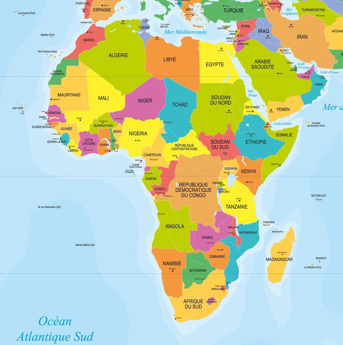 carte afrique images
