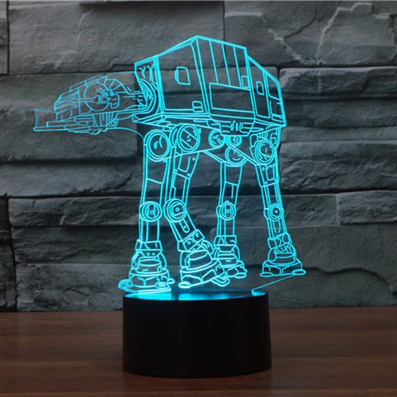 Usb Novelty Night Light Imperial Walker At At Star Wars 3d Bulbing Table Lamp Led Stick Touch Engraving Usb 3d Led Night Light Star Wars Lamp 3d Illusion Lamp
