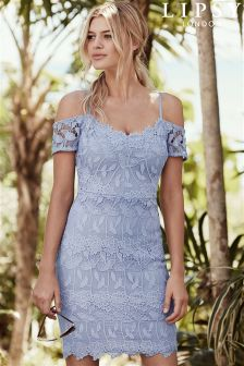 90a0299777 Lipsy All Over Lace Cold Shoulder Dress (L54901)