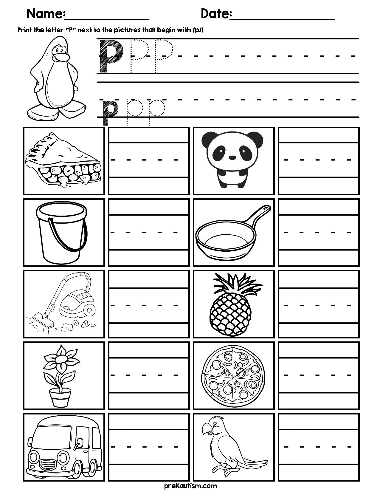 Initial Consonant Practice Worksheets Kindergarten Writing Practices Worksheets Alphabet Activities [ 1650 x 1275 Pixel ]