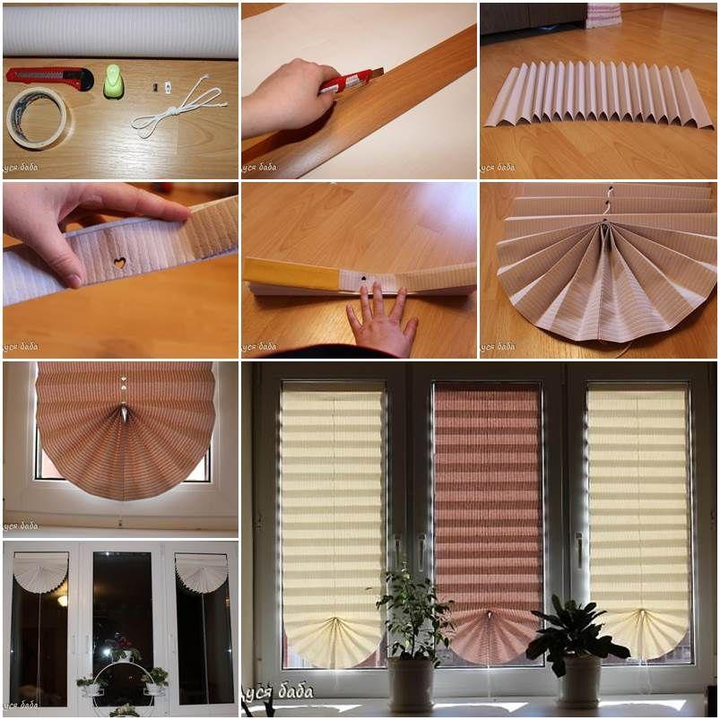 Diy Pull Up Window Shade Made Of Paper Diy Window Shades Window