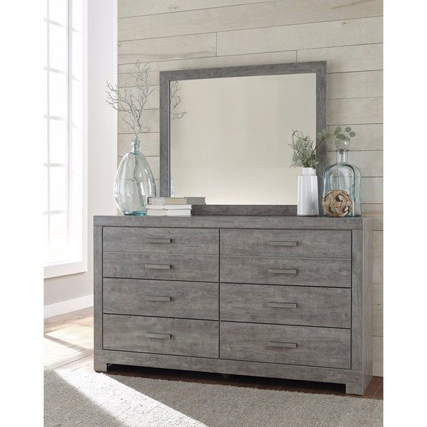 Signature Designashley Culverbach Grey Dresser With Mirror Interesting Ashley Bedroom Dressers Decorating Design