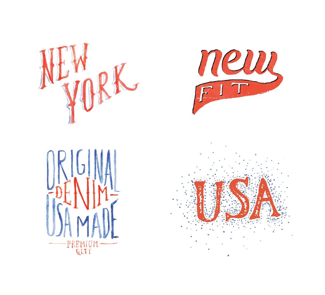 Chicken Leg Fit - Denim Branding on Behance | Lettering | Pinterest ...