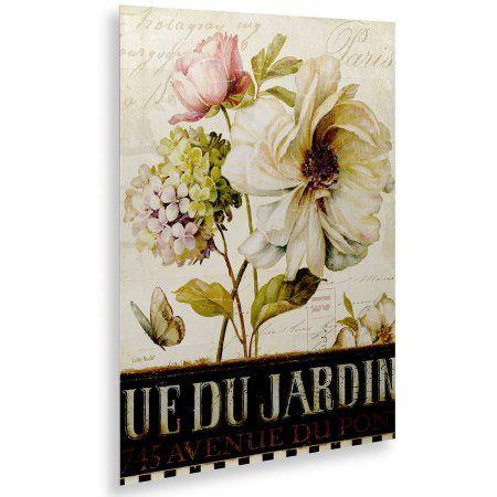 Trademark Fine Art Marche de Fleurs II Canvas Art by Lisa Audit, Floating Brushed Aluminum 16x22, Assorted