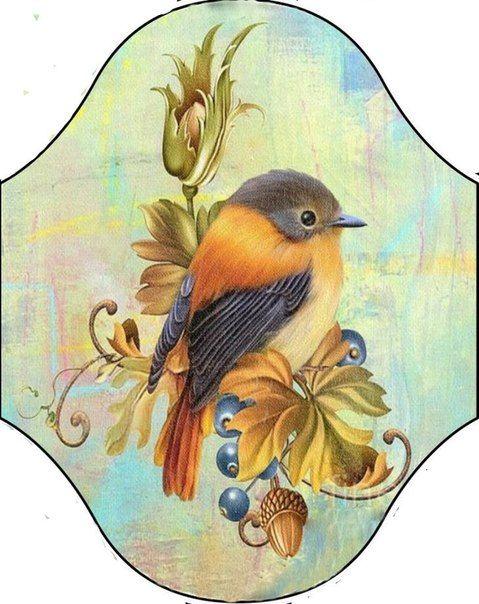 Декупаж картинки птички для ключницы