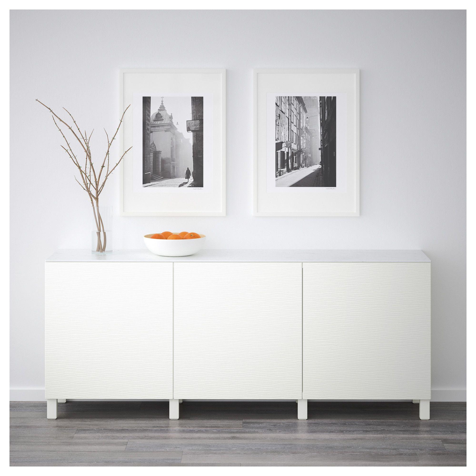 Ikea  Best Storage Combination With Doors White, Laxviken White