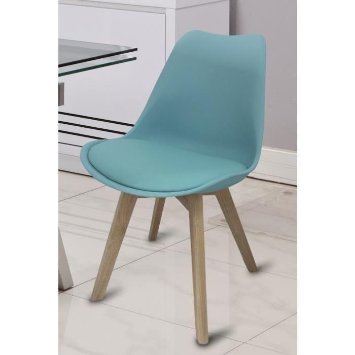 Modèle BJORN - Chaise de salle à manger - Chaise design pieds hêtre