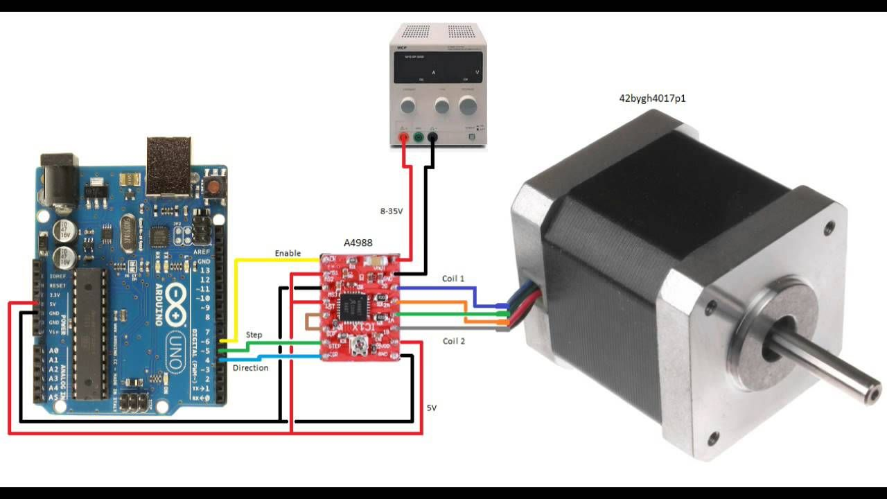 Arduino Using A A4988 Board To Control Stepper Motor Youtube Topic Ssr Solid State Relay And Uno Read 2938 Times