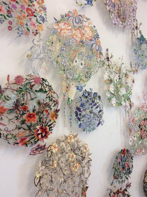 A wall of garden #textiles