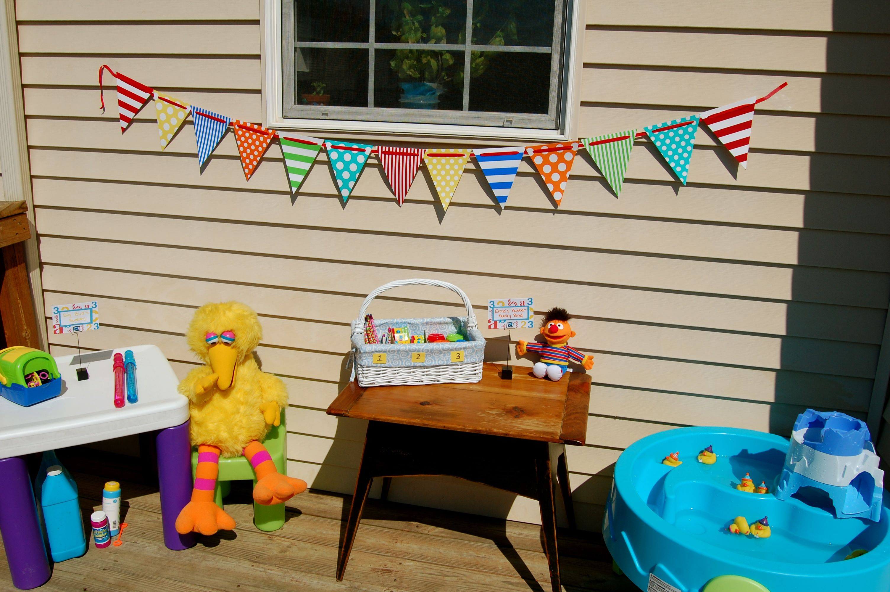Sesame Street 3rd Birthday Party Games and Activities