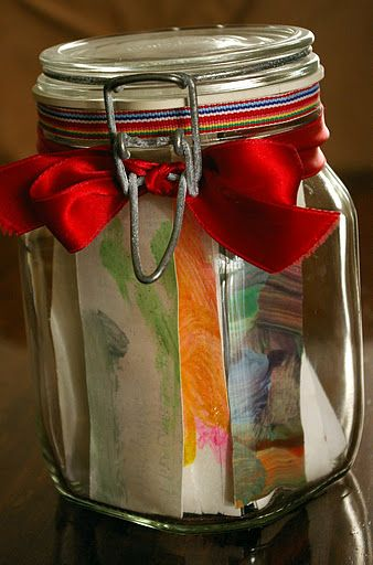 Teacher Appreciation Notes in a jar.  Collect sayings from all the students about the great things they have learnt & love about their teacher. Most meaningful gift I've seen for teachers!  love it! #eceappreciationgiftideas