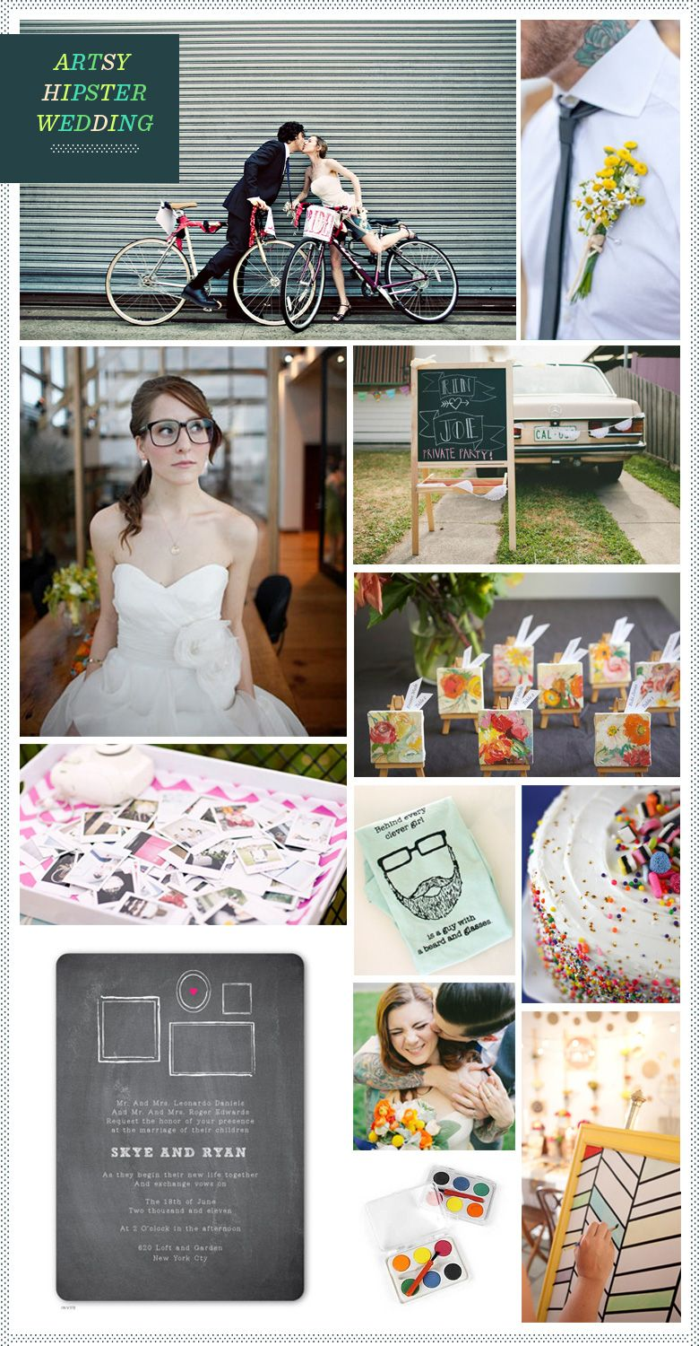 REVEL: Artsy Hipster Wedding Inspiration