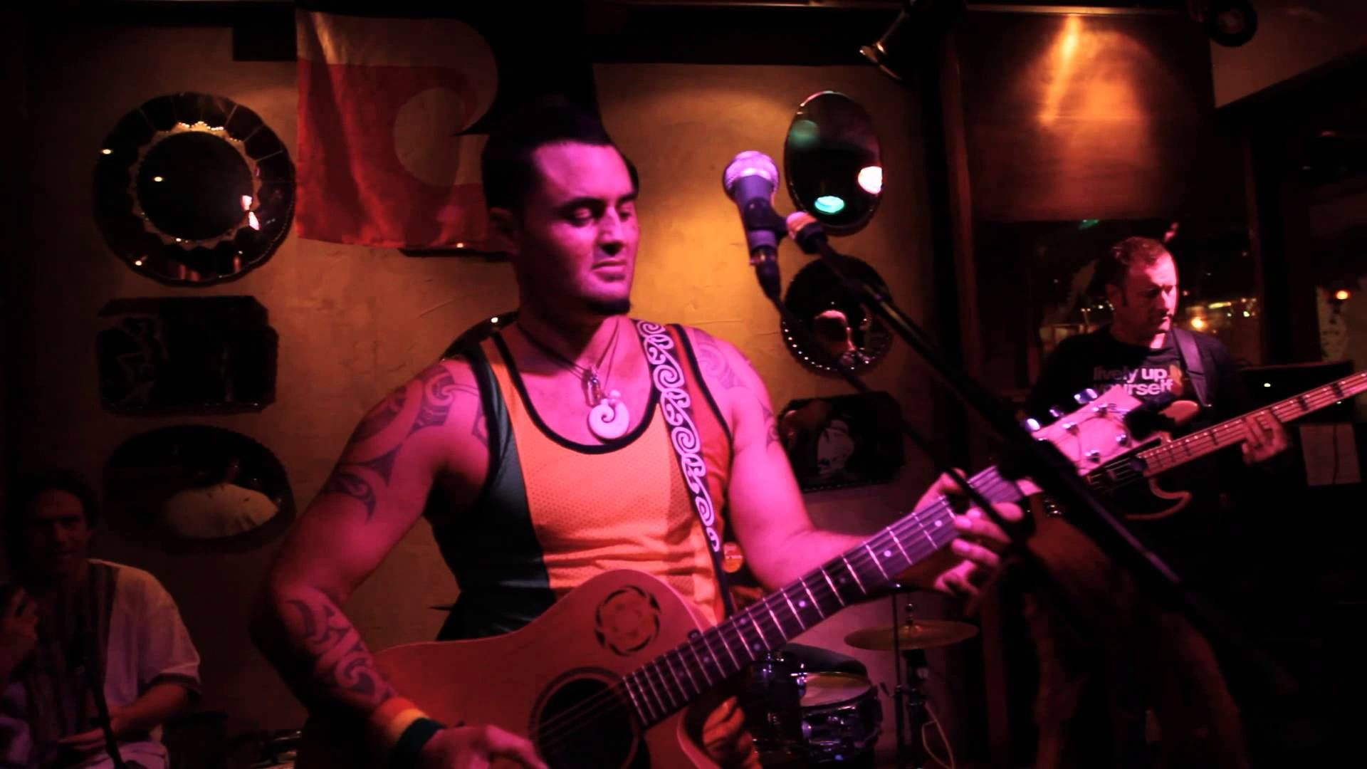 """Mint Cafe & Bar """"The Hook""""  Date: 20th of March Time: 8pm Location: Mint Cafe & Bar @ 1-5 Maria Place, Whanganui.  Tonight Matiu Te Huki with Michael Franklin-Browne (drums) and David Griffith (bass) will be performing """"The Hook"""" at the Mint Cafe & Bar. """"The Hook"""" performance showcases a strong Maori flavour using Haka, Chants and Traditional Instruments. This should be a great show, contact the Mint Cafe & Bar on (06) 348 4808 for further information."""