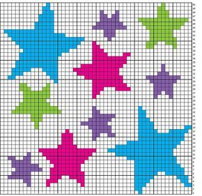 Photo of Array of Stars Chart Muster von Niamh Dhabolt