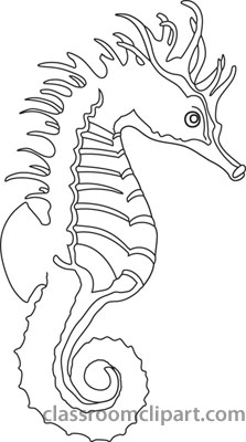 Animals Black And White Outline Clipart Sea Horse Clipart Outline Classroom Clipart Animals Black And White Seahorse Art Seahorse