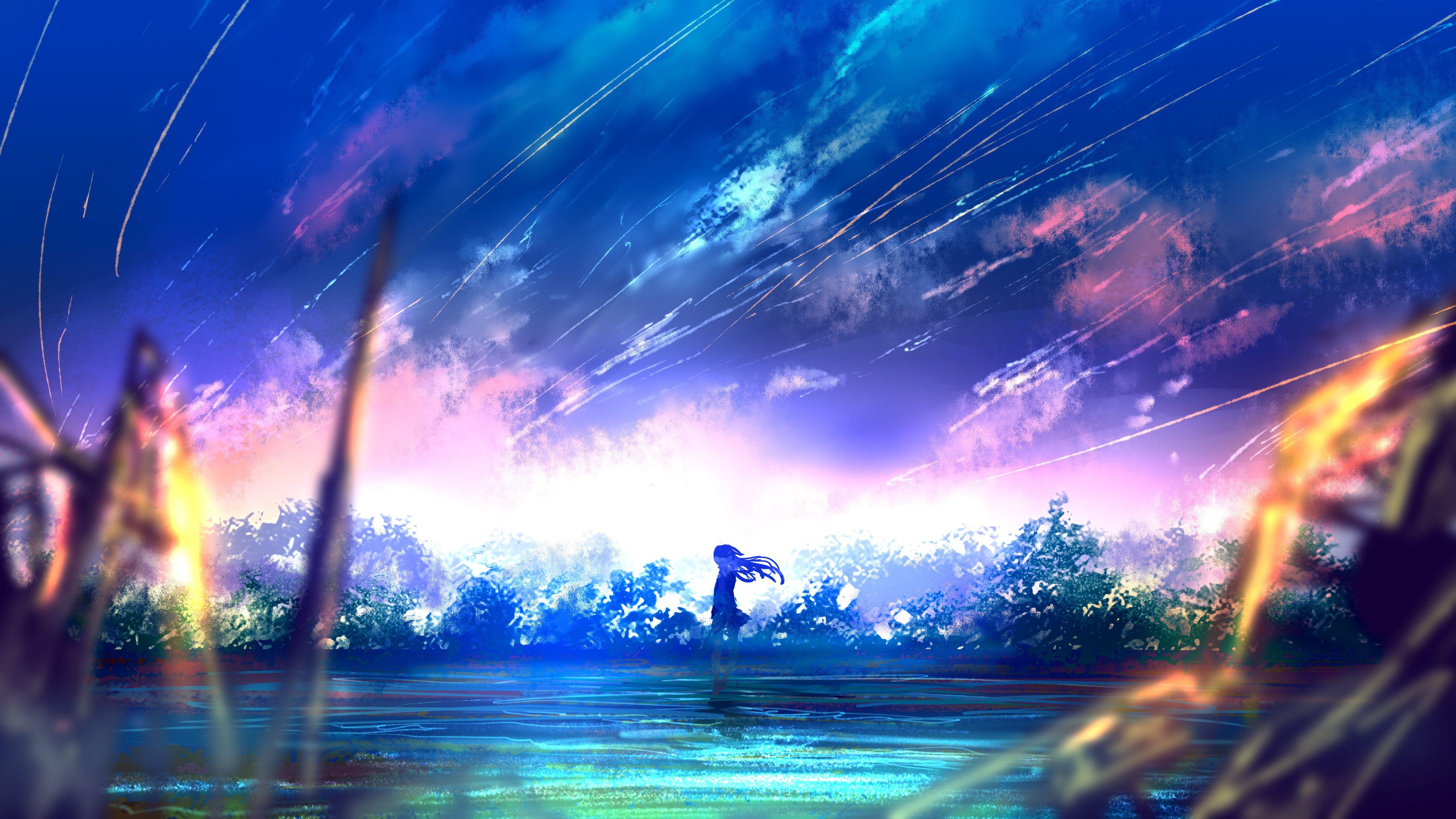 4k Wallpaper Anime Landscape Hd Art Wallpaper Scenery Wallpaper Landscape Wallpaper Anime Scenery
