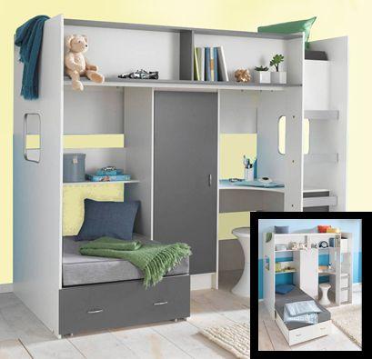 High Sleeper Loft Style Cabin Bed With Hideaway Futon Rutland