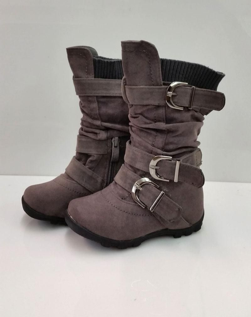 Details about NEW TODDLER GIRLS HOT ELEGANT GRAY SUEDE BOOTS SIZE ...