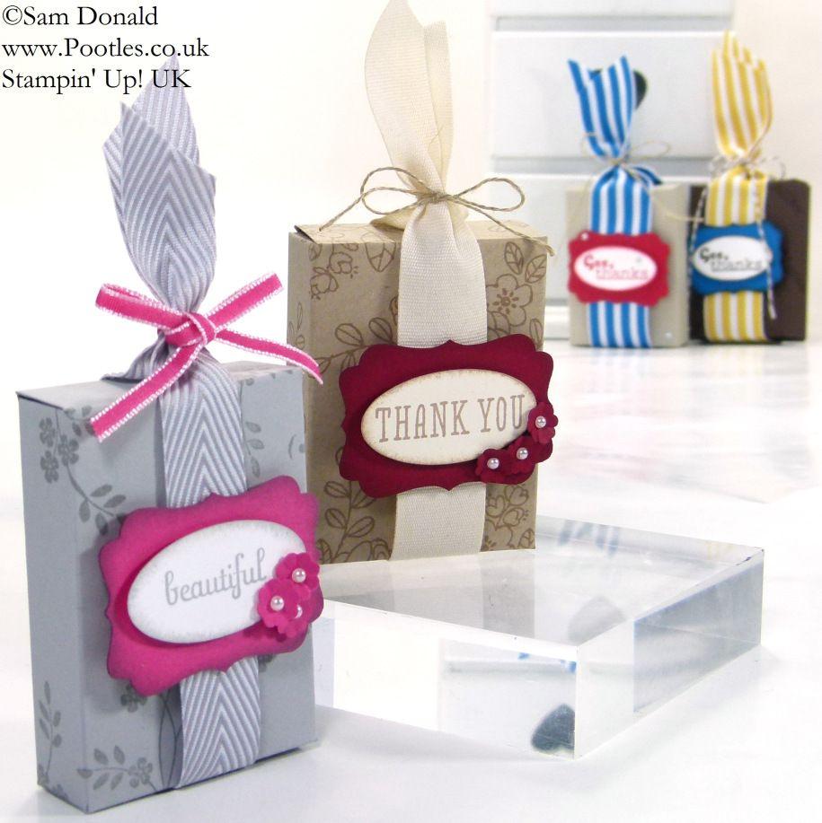 POOTLES Stampin' Up! UK Envelope Punch Board Favour Box Tutorial 3