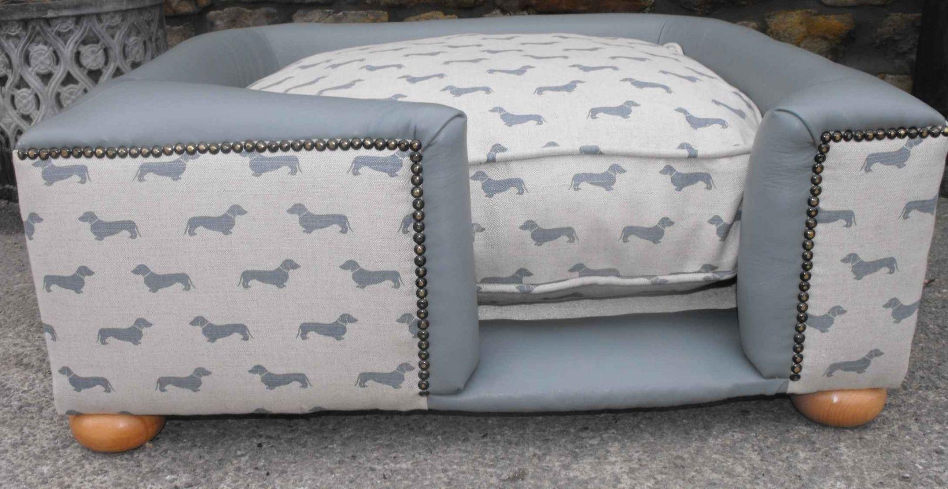 Image result for upholstered dog beds Leather dog bed