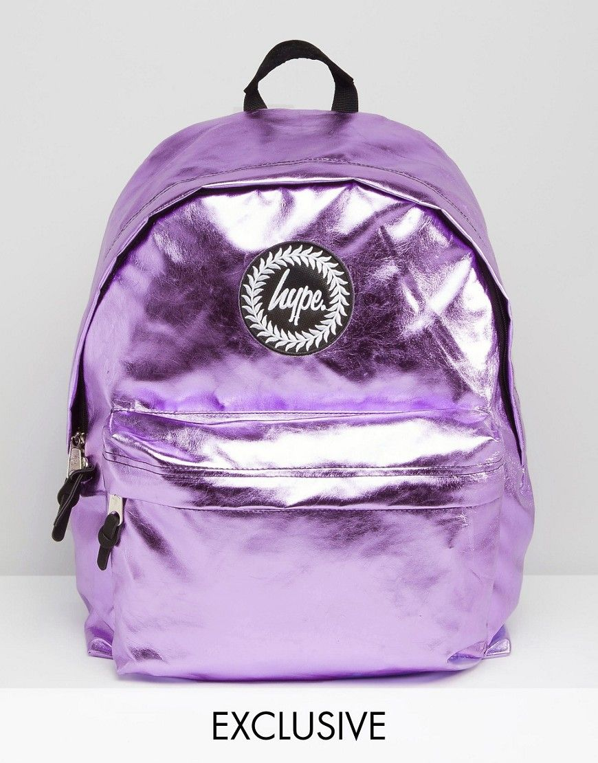 b81afd669eb0 Hype Exclusive Backpack in Metallic Baby Pink