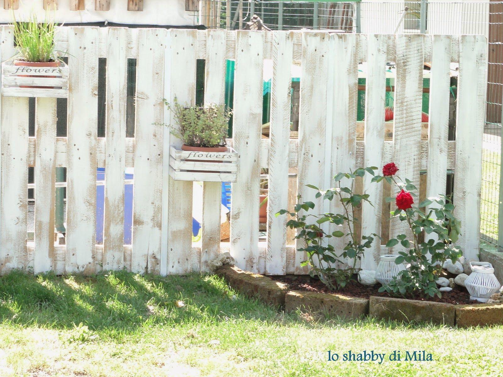 Staccionata Con I Bancali Lo Shabby Di Mila Garden Outdoor