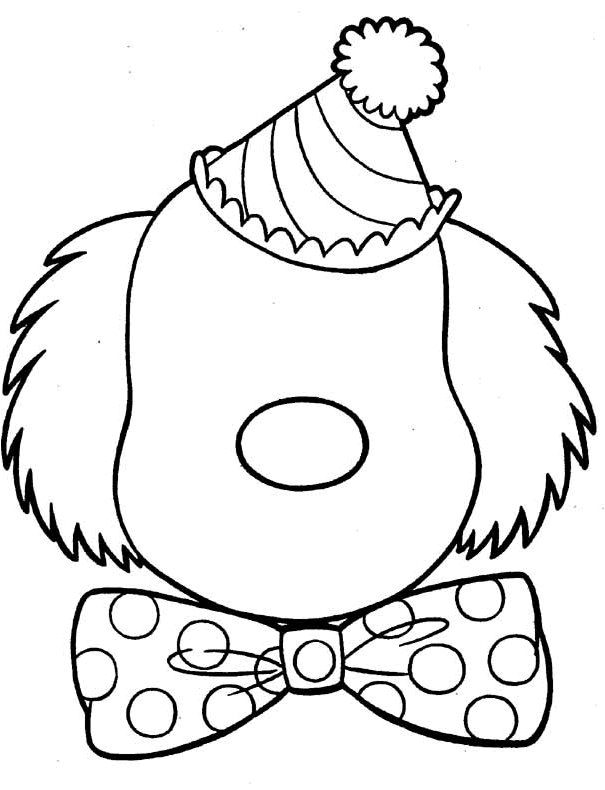Printable Clown Face Coloring Page