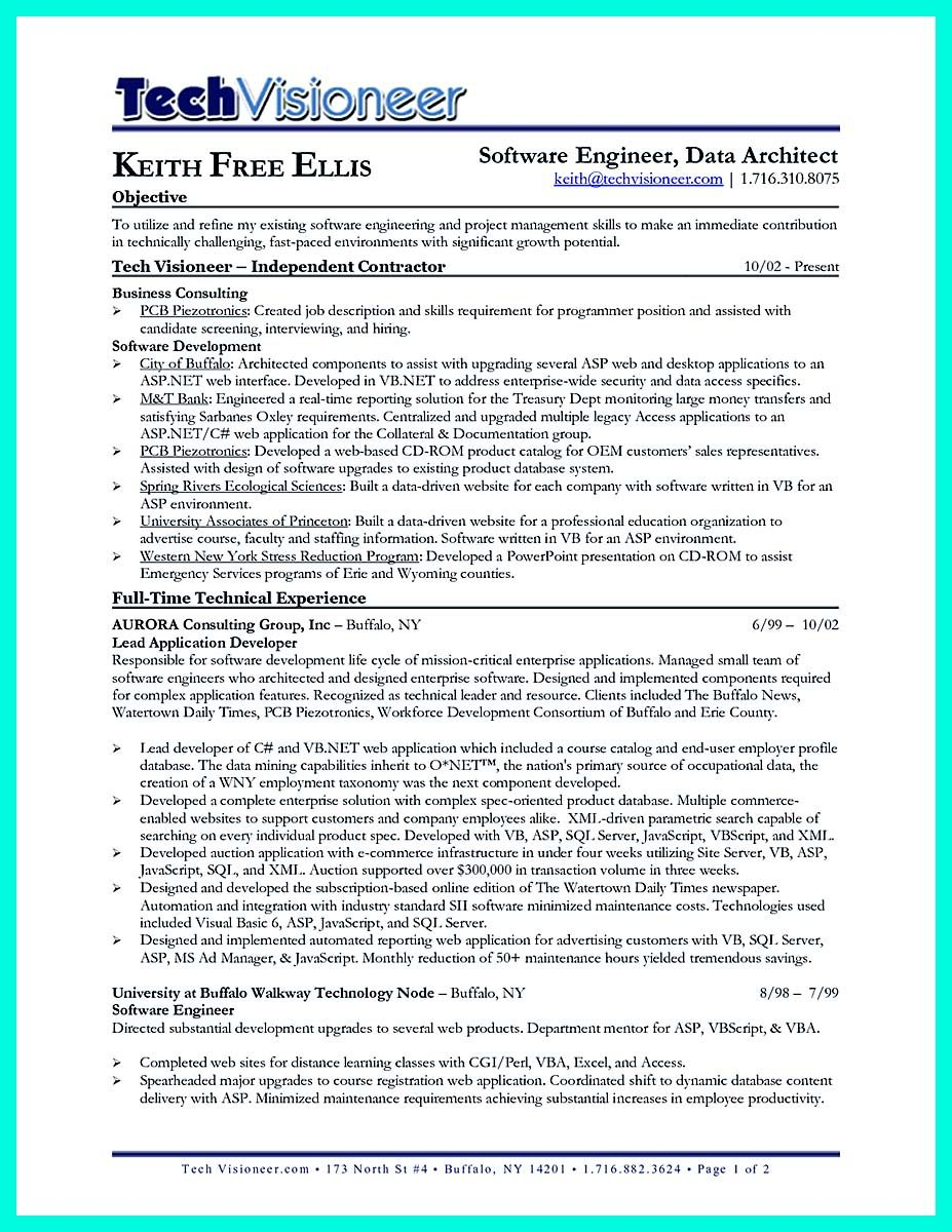 Cool The Best Computer Science Resume Sample Collection  Resume
