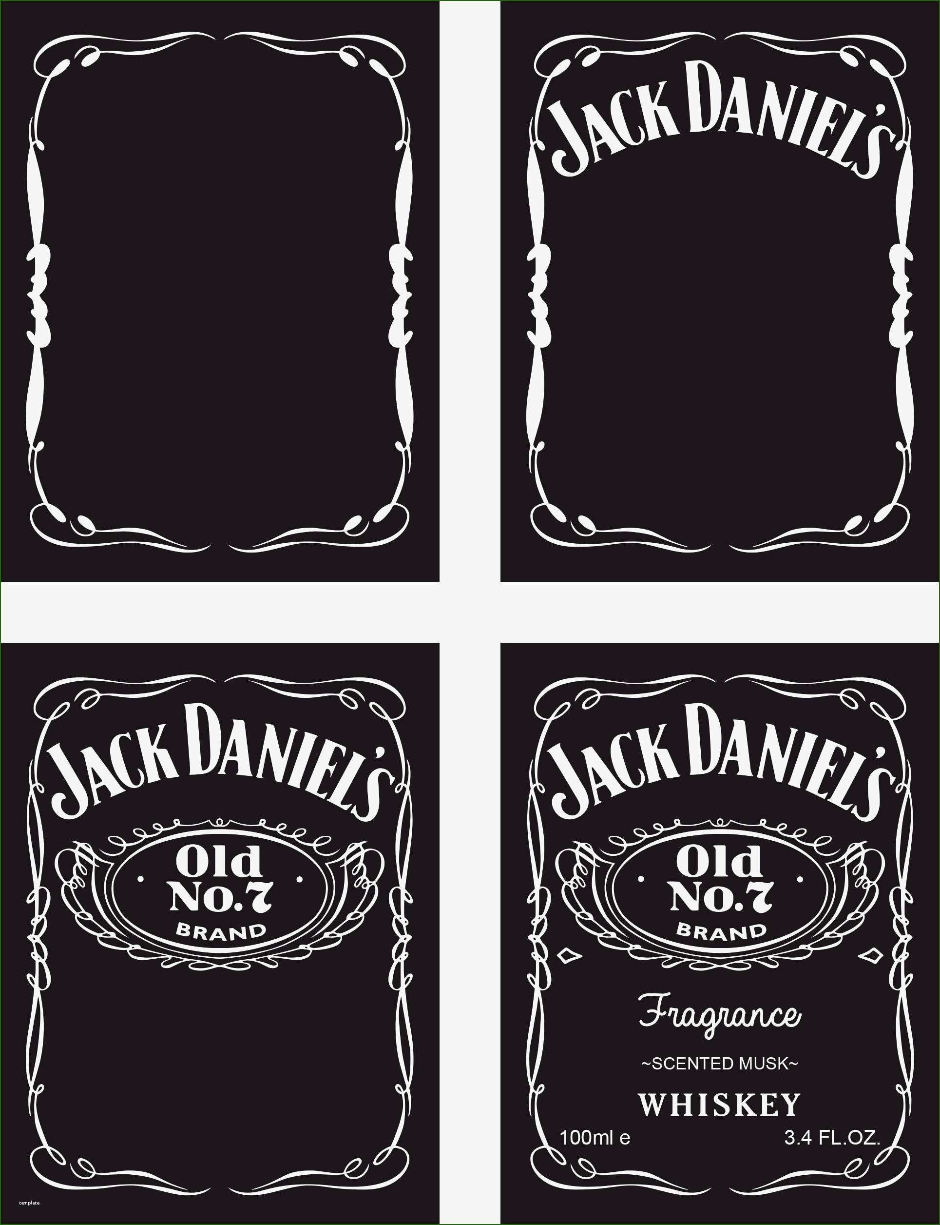 Blank Jack Daniels Label Template 17 Consultation that