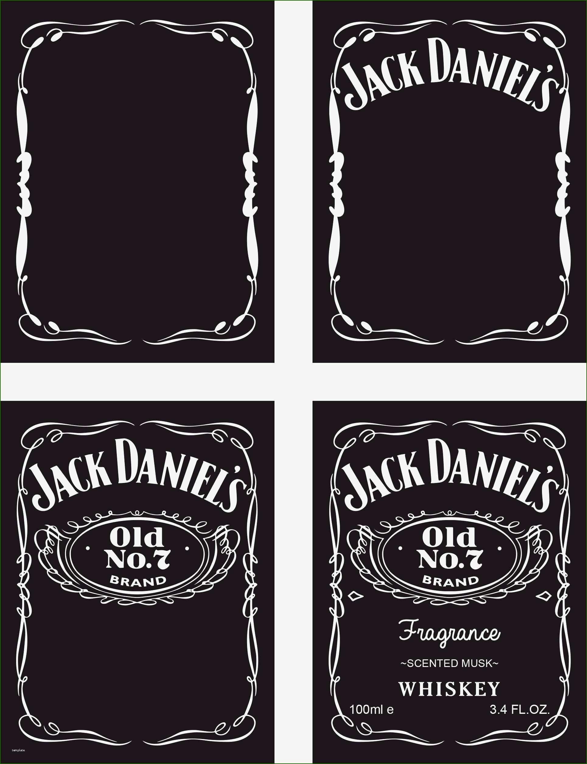 blank jack daniels label template 17