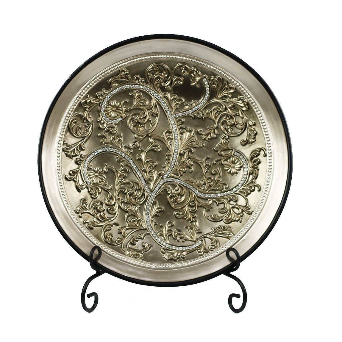 Large Decorative Plate With Stand D'lusso Designs Alana Collection Plate With Stand  Products