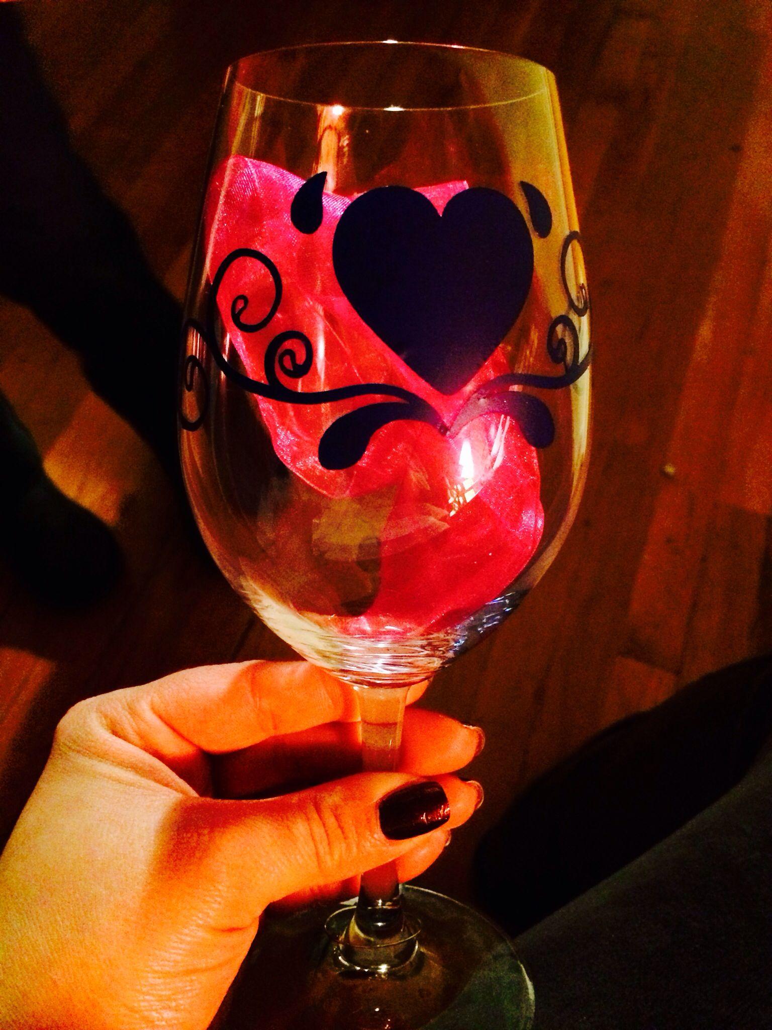 Cricut Vinyl Wine Glass Wine Glass Glass Stemless Wine Glass