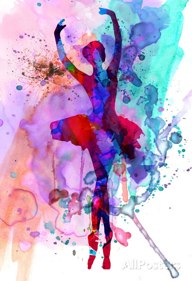 Ballerina's Dance Watercolor 3 Poster at AllPosters.com