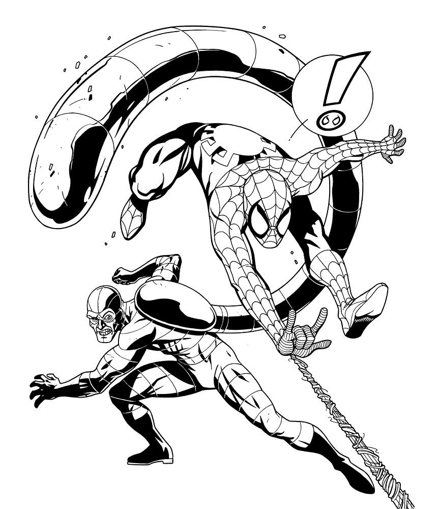 Spiderman online coloring pages for kids - Spider Man Picture Coloring Pages