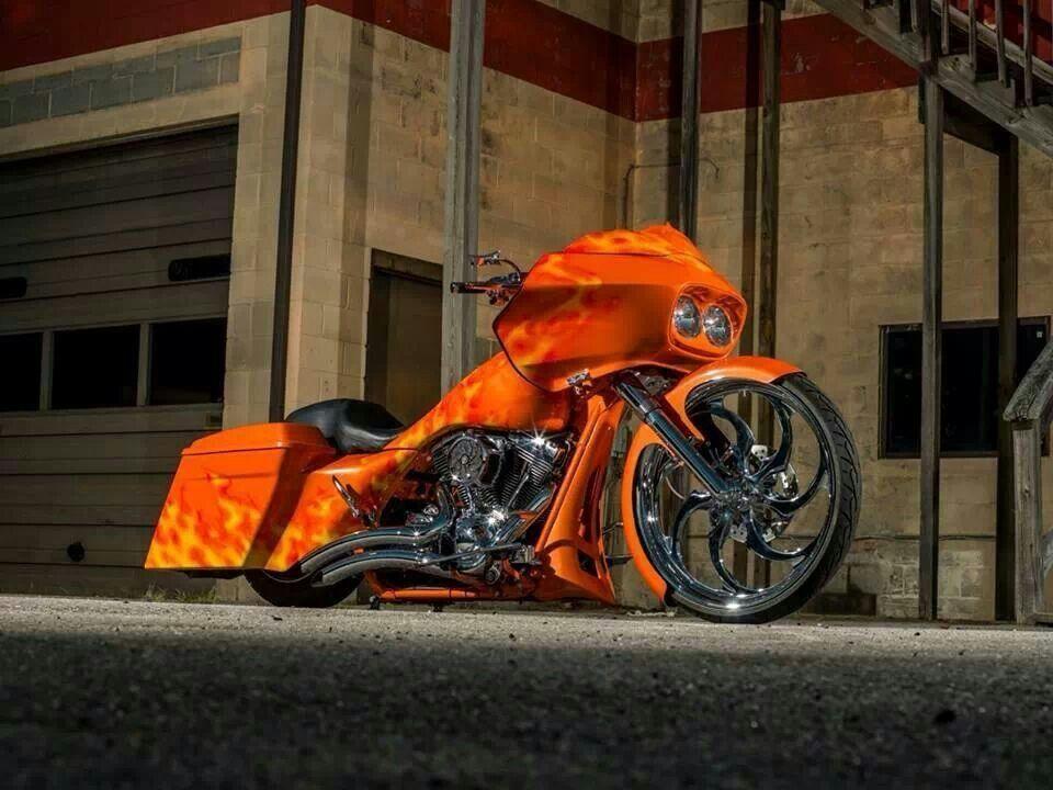 harley davidson road glide custom fire bagger motorrad. Black Bedroom Furniture Sets. Home Design Ideas