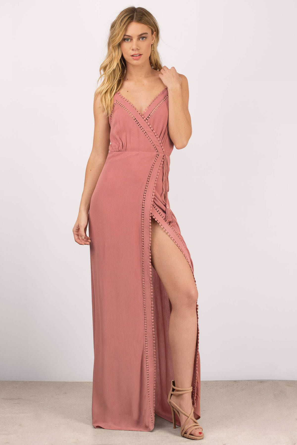 The mykonos cami strap surplice maxi dress is a must have perfect