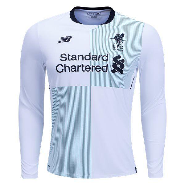 6b2408c11 17 18 New Balance Liverpool Long Sleeve Away Jersey