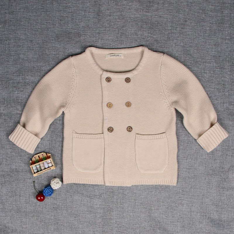 Baby Boy Girl Knit Sweater Long Sleeve Warm Cotton Pullover Top Fall Winter Coat Outfit Clothes for Toddler 1-5Years