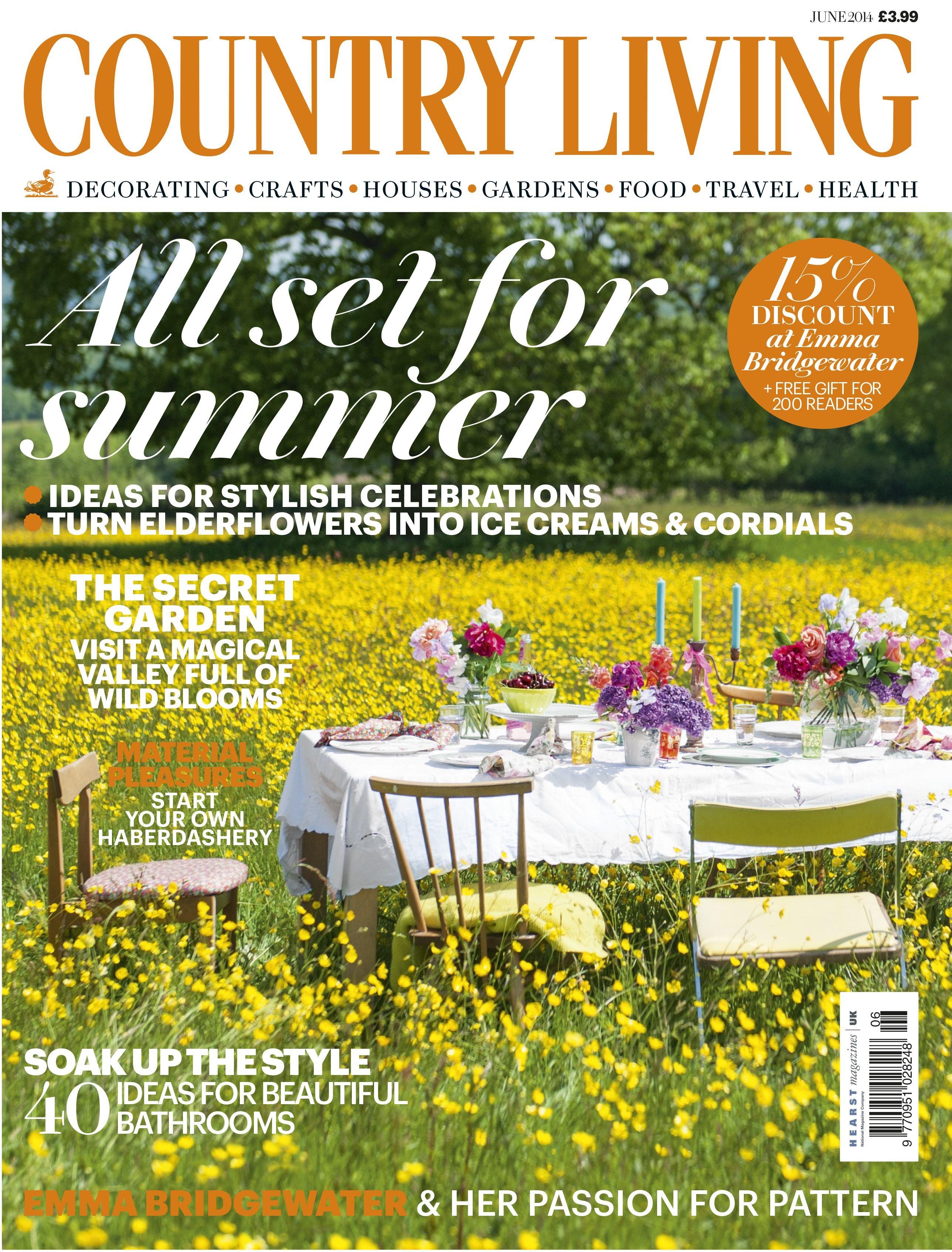 Country Living June 2014 Cover Countryliving Co Uk Country Living Magazine Country Living Uk Country Living