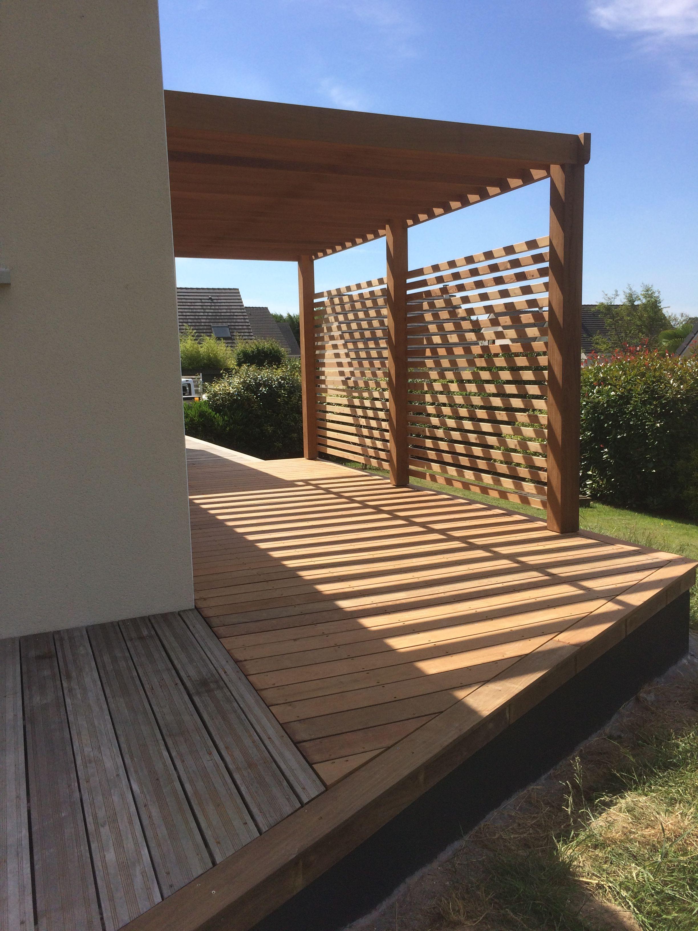 Pesqueux Charpente Amenagement Jardin Devant Maison Pergola Dans Le Jardin Terrasse Jardin Bois