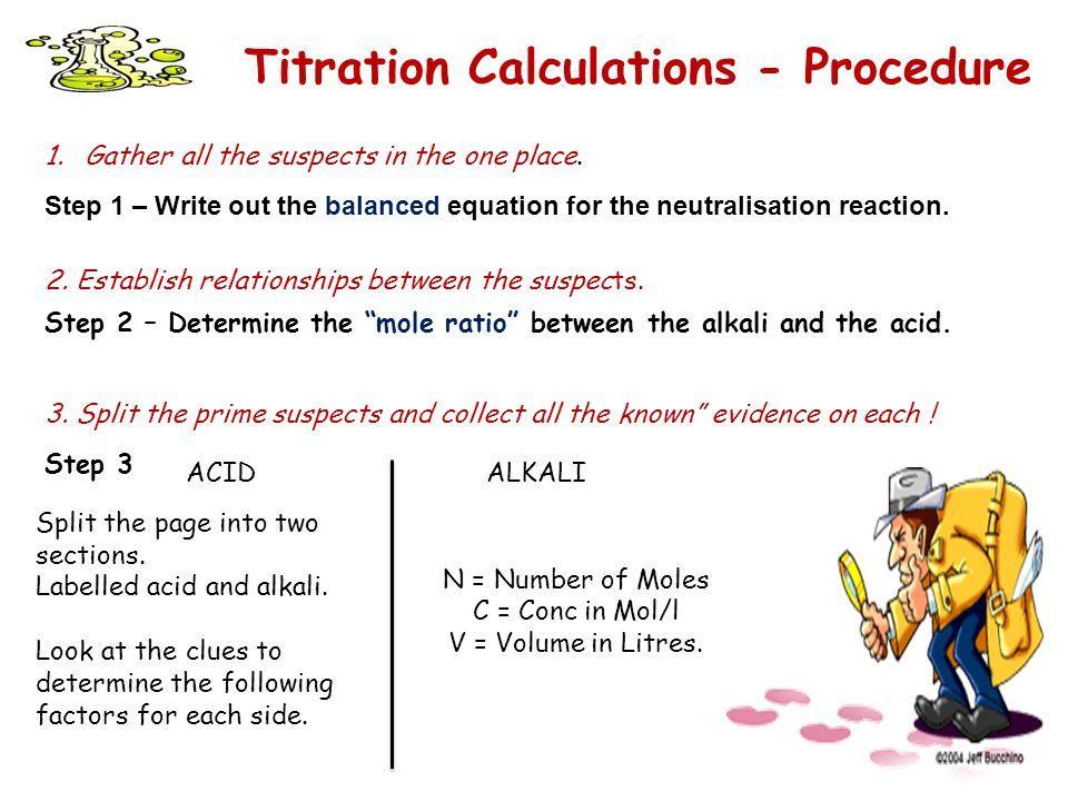 Titration Problems Worksheet - worksheet