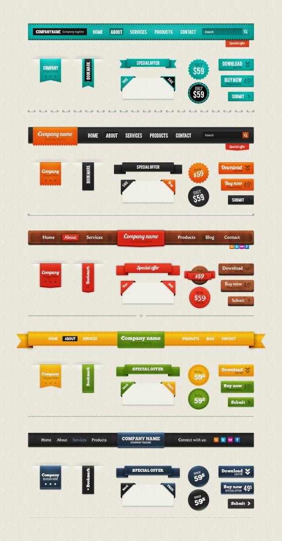 Best Retro Web Elements Free Psd Web Development Design Design Freebie Grapic Design