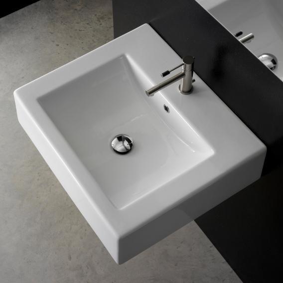 Scarabeo Square B Aufsatz- oder Hängewaschbecken weiß ...