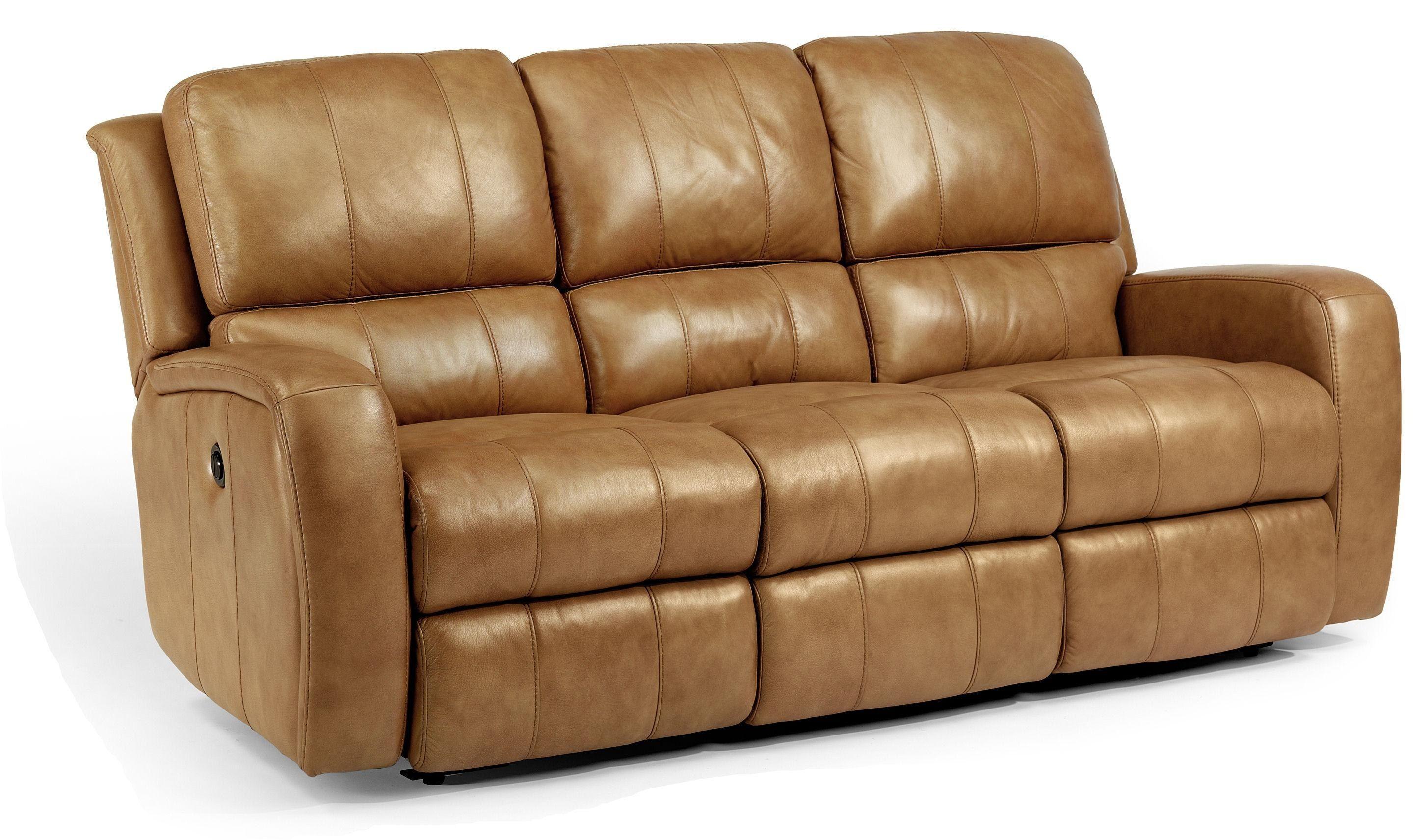 Flexsteel Leather Reclining Sofa Leather Reclining Sofa