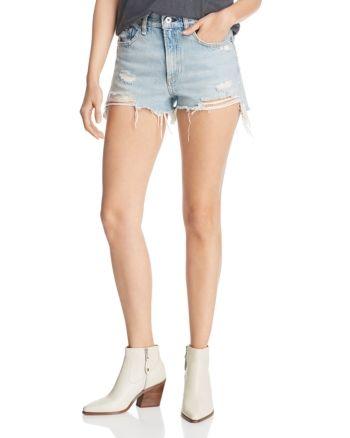 rag & bone Justine Distressed Denim Cutoff Shorts in Tab with H - Tab With H #denimcutoffshorts