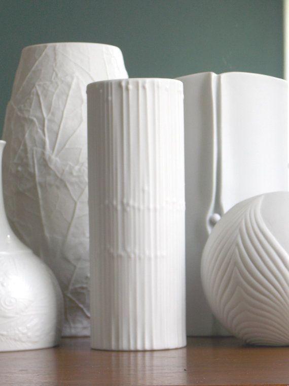Rosenthal Vase Tapio Wirkkala Vase White By Midcenturyfla On Etsy
