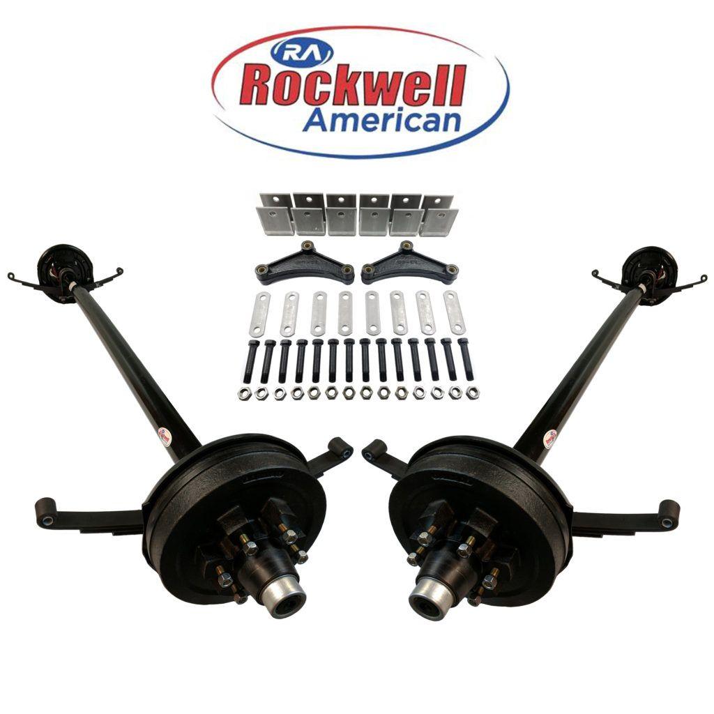 Tandem 5,200 lb Electric Brake Axle Running Gear Set