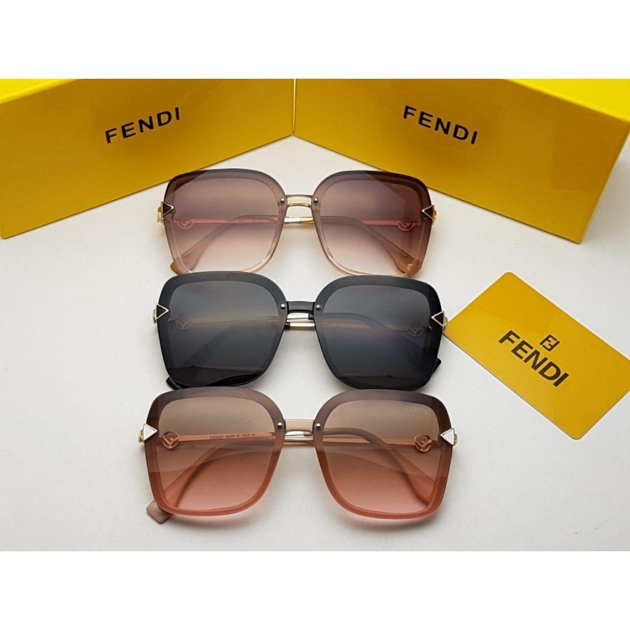 نظارات فندي نسائي Fendi درجه اولى مع جميع الملحقات وبنفس اسم الماركه هدايا هنوف Sunglasses Glasses