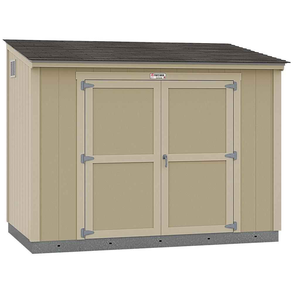 Tuff Shed Installed The Tahoe Series Lean To 6 Ft X 10 Ft X 8 Ft 3 In Un Painted Wood Storage Building Shed And Sidewall Door 6x10 L2 S1 Np The Home Depot