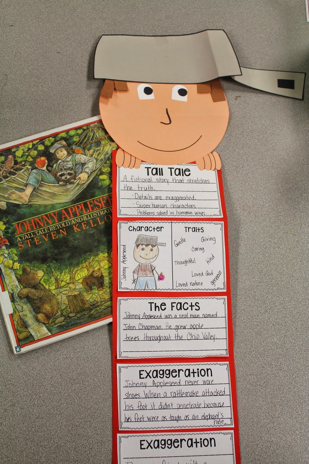Teach Tall Tales With Johnny Appleseed And A Cute Craft